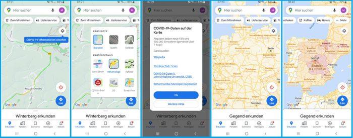 COVID Google Maps