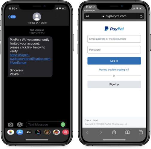 PayPal auf dem Handy